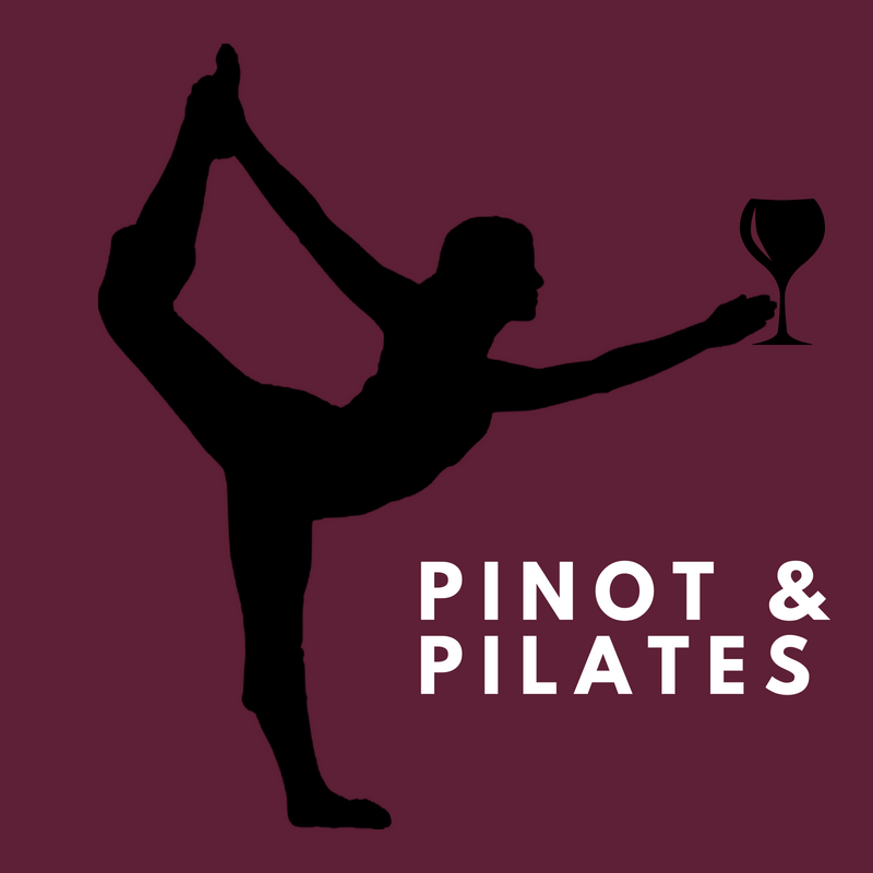 graphic showing Pinot & Pilates