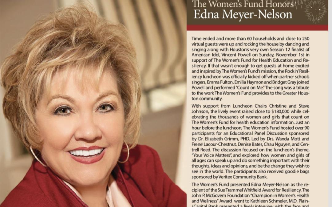 The Women's Fund Honors Edna Meyer Nelson